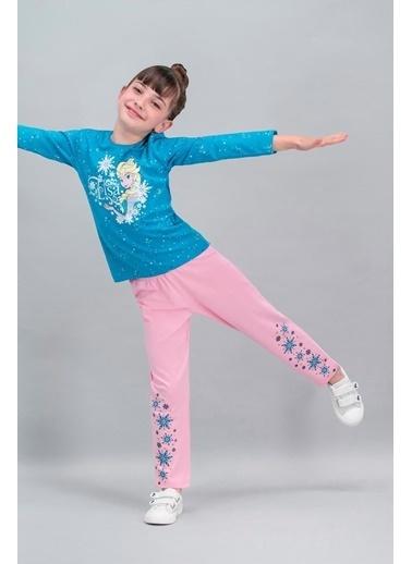Frozen Karlar Ülkesi - Frozen Lisanslı Pembe Kız Çocuk Pijama Takımı Pembe